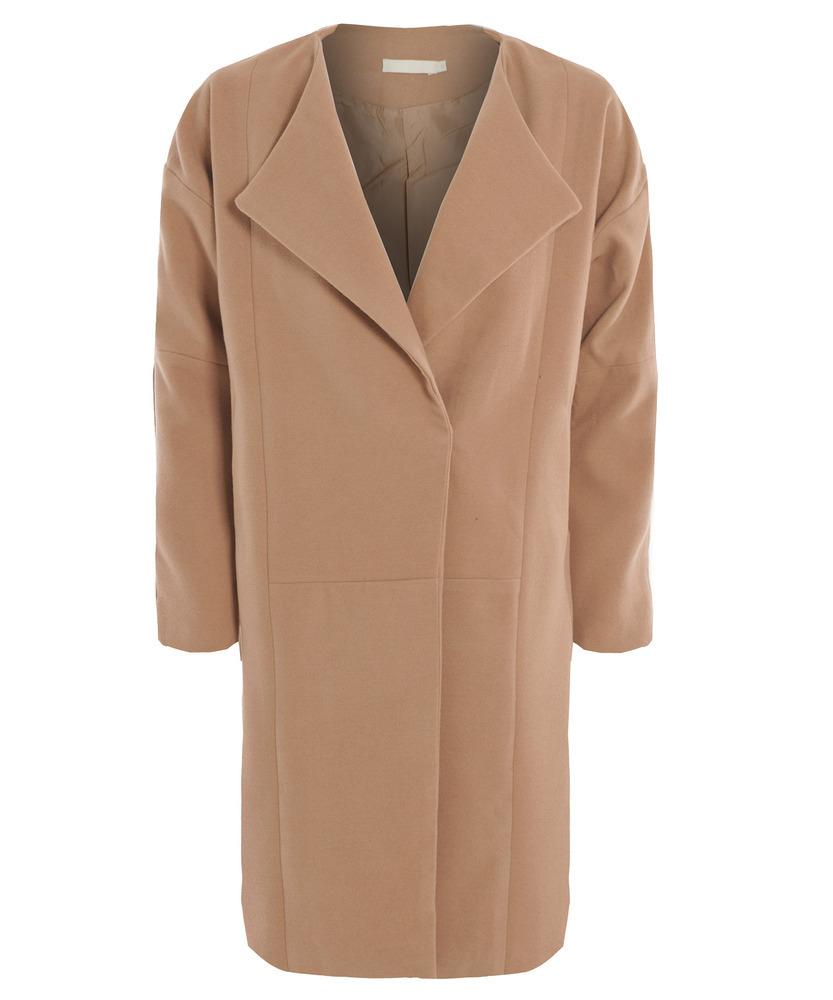 Sugarcoated oversized camel beige cocoon coat
