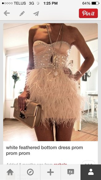 pinterest feathers jewels sparkle dress