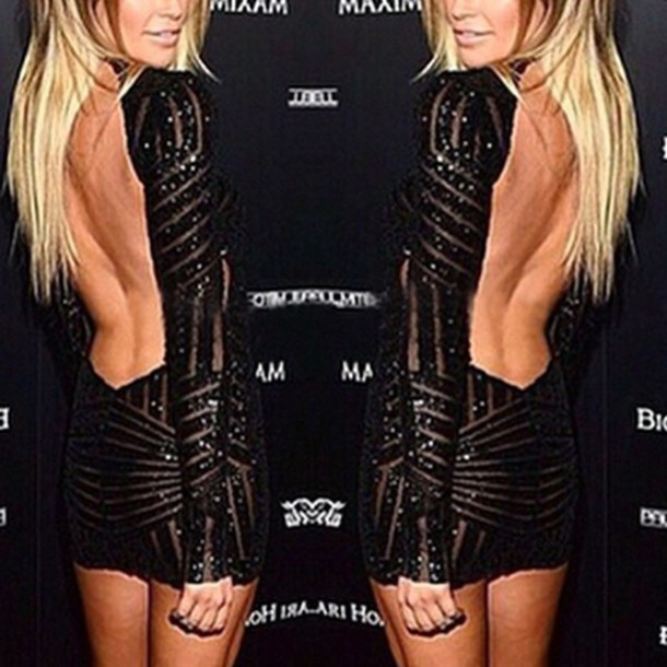 a9d221dca7b4 dress lost souls black dress black sequin dress sequin dress mini dress  backless dress low back