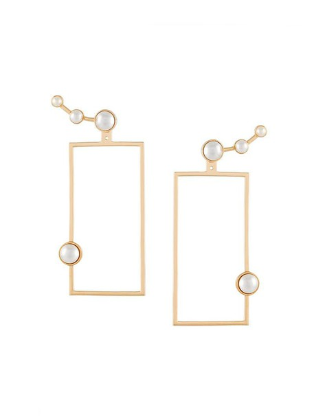 ESHVI women pearl earrings white jewels