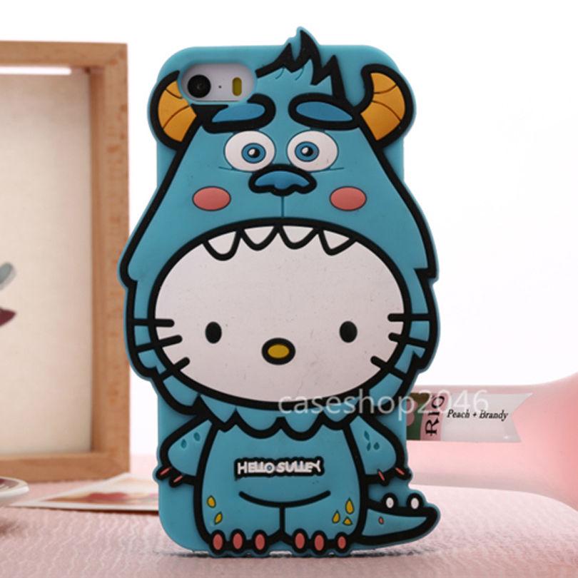 5f480298bda20e Cartoon Disney SULLEY Hello kitty SILICONE soft case cover for iphone 6 PLUS  5S