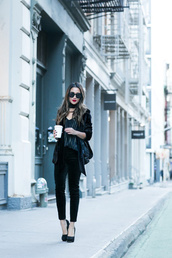 wendy's,lookbook,blogger,jacket,top,pants,scarf,dress,jewels,bag,black jacket,velvet jacket,blazer,velvet pants,high heels,high heel pumps,cropped velvet pants,black velvet pants
