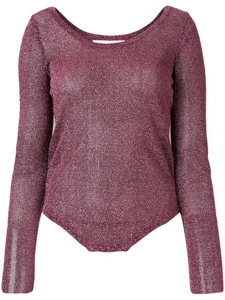 A.F.VANDEVORST t-shirt shirt t-shirt glitter women purple pink top
