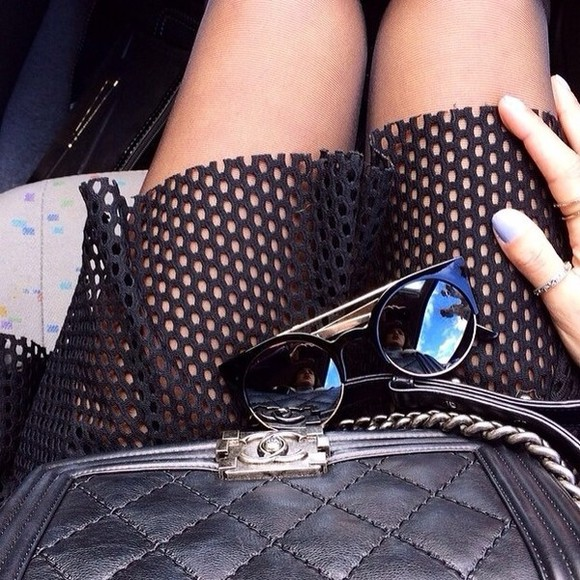 black skirt summer outfits sunglasses black sunglasses tumblr outfit girly old school summer outfits bag