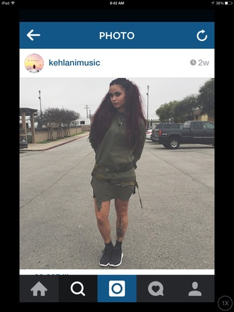 coat army green kehlanimusic dress