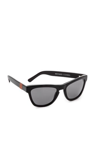 shiny sunglasses black grey