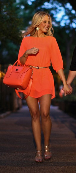 dress orange dress bright colored