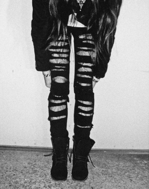 jeans ripped jeans cut slashed black denim pants tumblr pinterest found on pintrest rip it up jeans grunge black jeans ripped ripped jeans black ripped jeans
