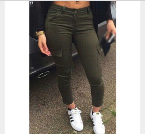 Pants: army green, army pants, khaki pants, jeans, green, olive ...