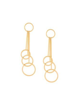 triple earrings metallic jewels