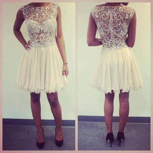 dress white dress gorgeous glitter dress lace dress strass