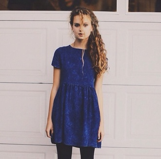 dress navy casual dress acid wash short sleeve short navy blue dress hipster punk hippie indie
