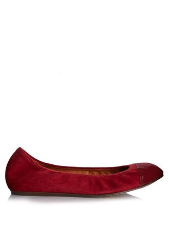 ballet flats ballet flats leather suede burgundy shoes