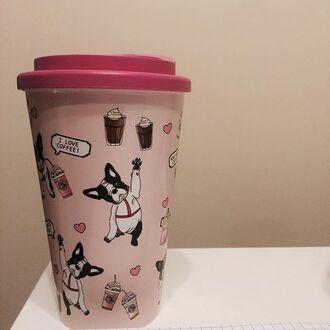 home accessory yeah bunny tumbler cute pink frenchie sweet coffee mug travel mug