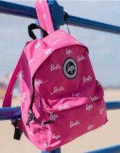 bag,pink barbie backpack