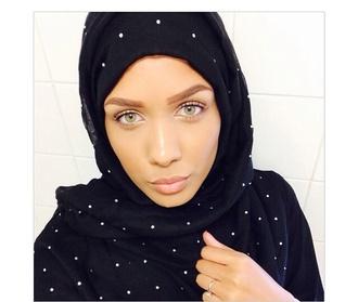 scarf head scarf asian black scarf head wrap hijab