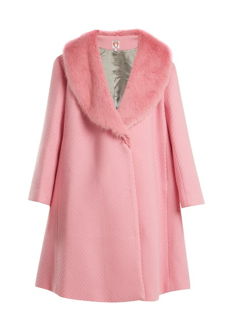 Shrimps coat fur wool pink