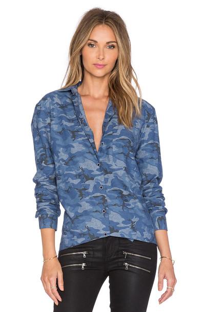 ATM Anthony Thomas Melillo shirt boyfriend blue