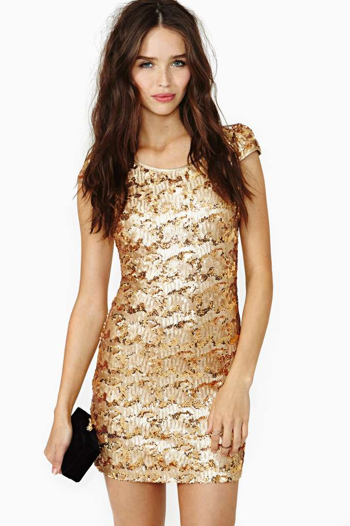 Rare London Sun Glitter Sequin Dress | Shop Going Out at Nasty Gal