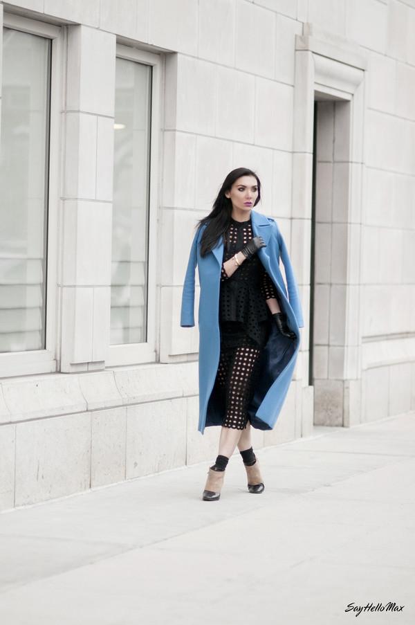 say hello max dress coat shoes jewels bag