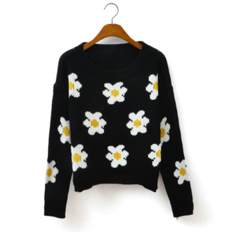 sweater daisy white flowers pretty shorts shoes knit cute tumblr crop tops cropped undefined lilac girl polarneck daisy sweater jewels floral black cropped sweater florals top yellow white crop tops dasiy multiple flowers blouse charlotte russe black round neck white daisy long sleeves knitwear daisy jumper winter sweater collar sunflower shirt polka dots