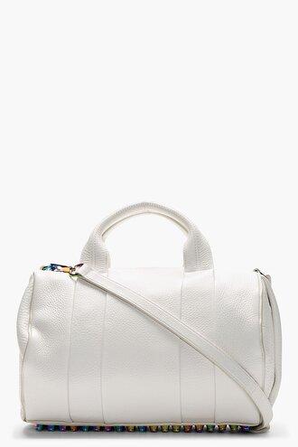 bag rocco white handbag accessories women duffle bags pebbled lambskin