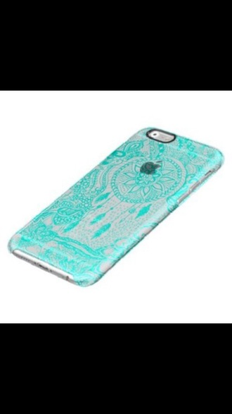phone cover blue turquoise iphone 6 case dreamcatcher