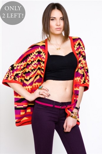 Mad Love Clothing- Indian Summer Cape- $60