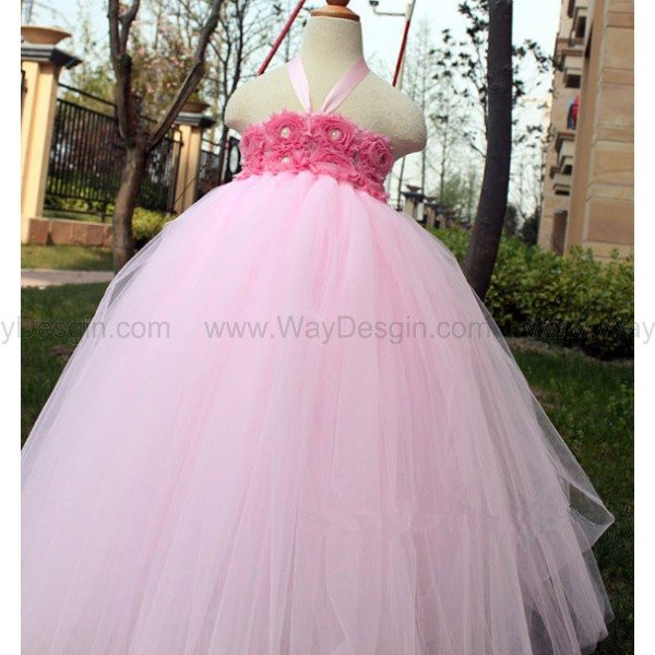 pink dress flower girl dress