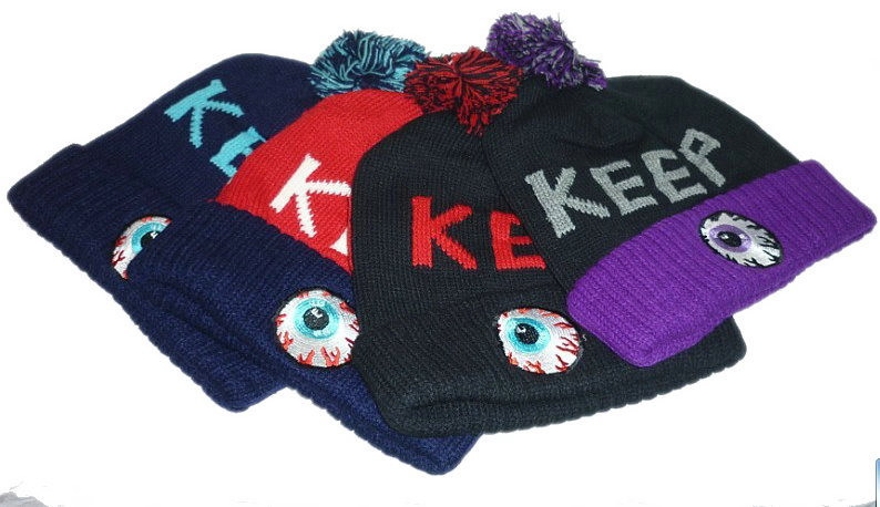 2013 new fashion keep eye blue/red/purple/black beanie hats and caps for men/women sports hip pop cap winter mens hat wholesale-in Skullies & Beanies from Apparel & Accessories on Aliexpress.com