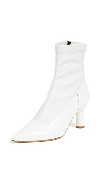 booties white bright shoes