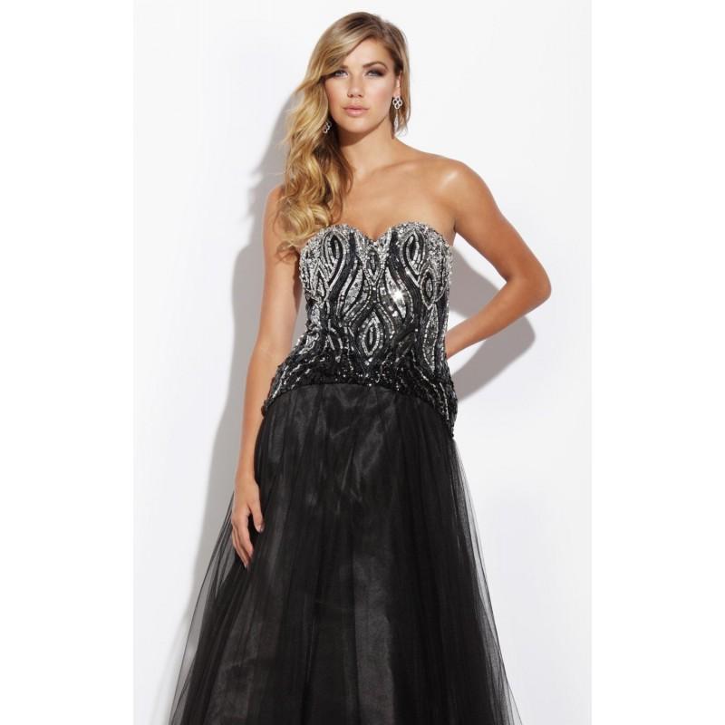 Beaded Embellished Gown Dress by Jolene 14242 - Bonny Evening Dresses Online