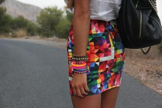 skirt red yellow green purple blue white orange