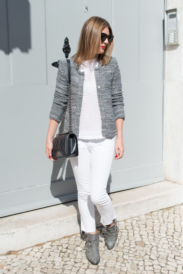 the working girl jacket bag shoes jeans top sunglasses