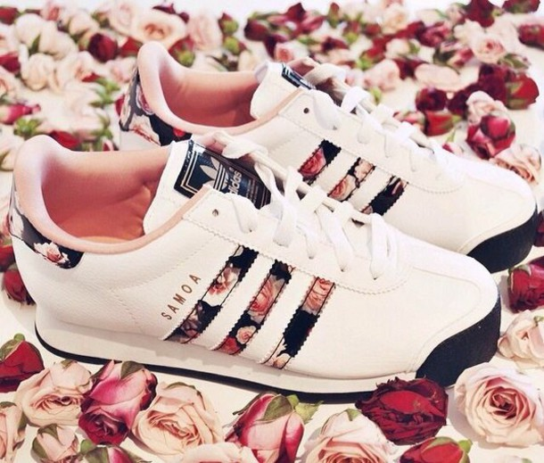 shoes footlocker.com flowers rose adidas floral adidas shoes sneakers