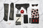 the sense,blogger,scarf,gloves,sunglasses,bra,cats,classy wishlist,lipstick,underwear,bag,make-up,jewels,leather gloves