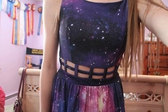 dress galaxy dress galaxy print trendy fashion girly tumblr @helpme