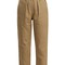 Paperbag-waist straight-leg cropped trousers
