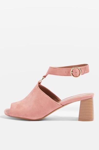 Topshop sandals blush shoes