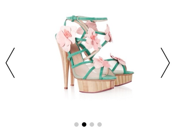 shoes high heels floral