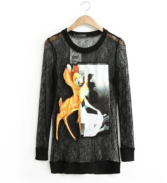The abstract bambi lace sweater