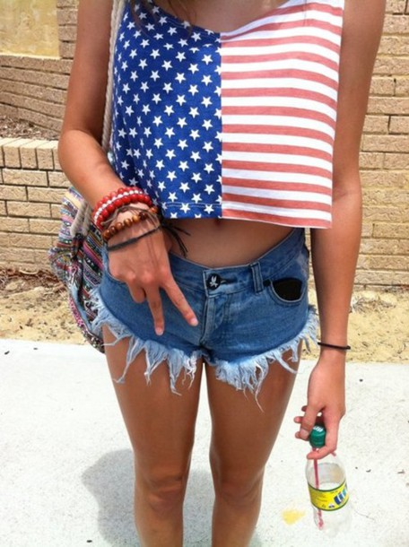 tank top american flag