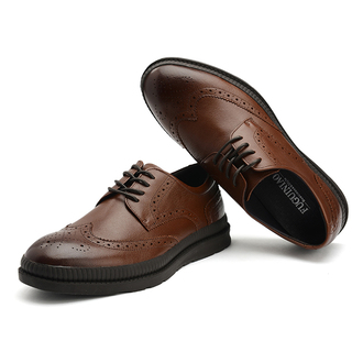 shoes fuguiniao brogue brown shoes shopping fashion mensfashion wingtip