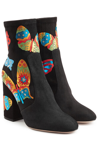 suede ankle boots boots ankle boots suede multicolor shoes