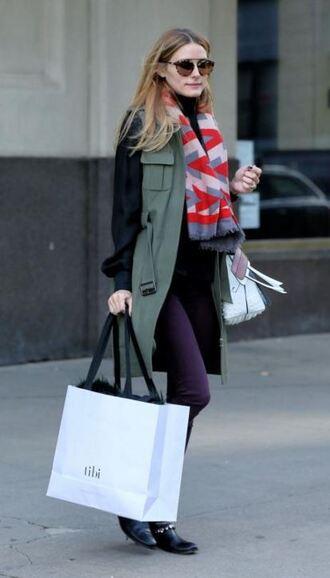 scarf vest olivia palermo sunglasses bag