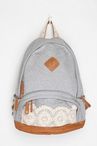 bag kimichiblue gray grey lace brown