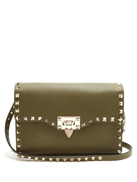 cross bag leather khaki