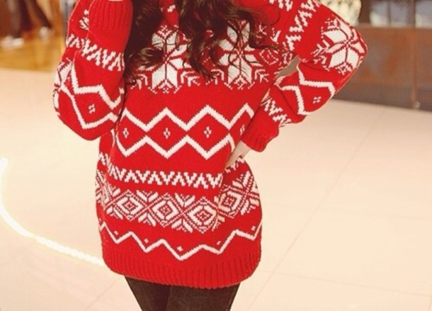 Sweater: christmas, rend and white christmas sweater, christmas ...