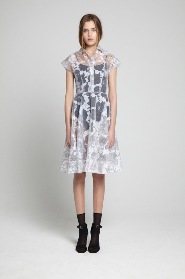 dress white dress floral dress transparent dress