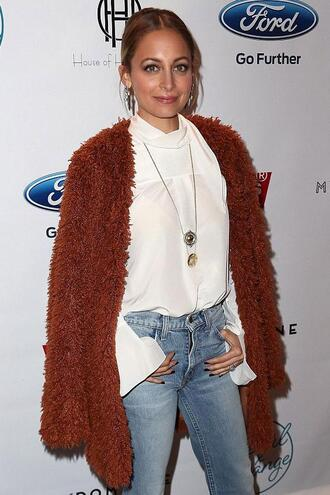 blouse shirt cardigan nicole richie fall outfits